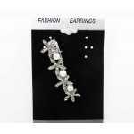 516087  Silver Hair Clip & Pearls