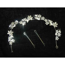 516102-101 Crystal Silver Hair Piece