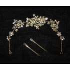 516105-201 Gold Crystal Bridal Hair Accessories
