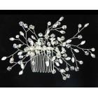 516109 Silver Bridal Hair Comb
