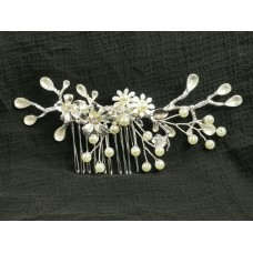 516111-101 Silver Crystal Bridal Hair Comb