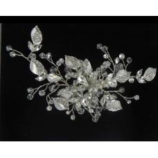 516112-101 Crystal Bridal Hair Piece & Clip