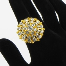 517305 clear  in gold ring