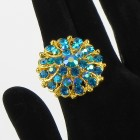517305 blue in gold ring