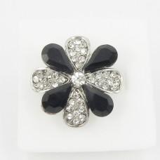 517318 Black in Silver Ring