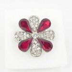 517318 Red in Silver Ring
