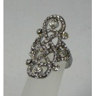 517325-101 Crystal Clear Silver Ring