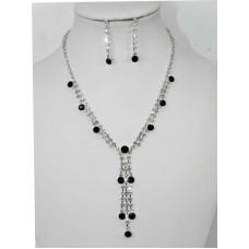 591300 Black Necklace in Silver