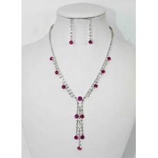 591300 Fushia Necklace in Silver