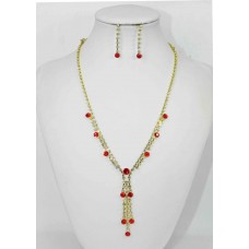 591300 Red Necklace in Gold