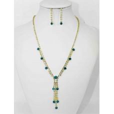 591300 Blue Zir. Necklace in Gold