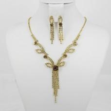 591372 Topaz in Gold Necklace Set