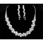 591450-101 Clear in Silver Necklace set