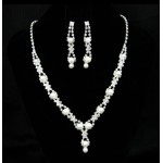 591451-101 Silver Necklace set with Pearl