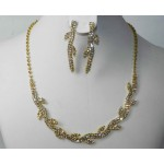 591452-201 Clear in Gold Necklace Set