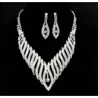 591455-101 Clear in Sillver Necklace set
