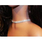 591459-101 Fashion Rhinestone Choker Necklace Set