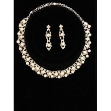 591465-101  NECKLACE SET WITH PEARL