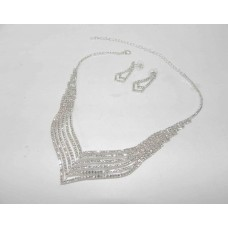 591473-101 Clear Crystal Necklace Set