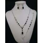 591487-102 Nacklace Set in Black & Bracelet