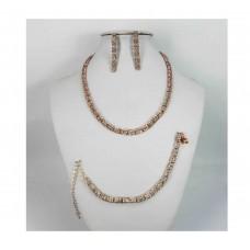591482-209RG Necklace Set & Bracelet in Rose Gold