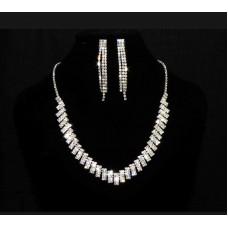 591484-101 Silver Necklace Set