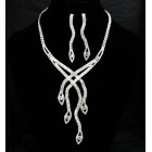 591496-101 Fashion Silver Necklace Set