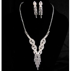 591498-101 Fashion Silver Necklace Set