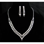 591502-101 Silver Clear Necklace Set