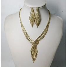 591507-201 Necklace Set in Gold