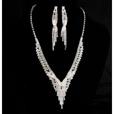 591510-101 Silver Fashion Necklace Set