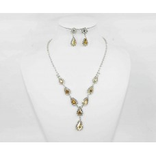 593512-130  Silver Necklace Set in Champ.