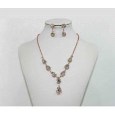 593512-209  Clear Necklace Set in Rose Gold
