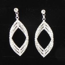 592096 clear crystal earring