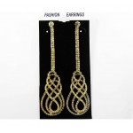 592350 Clear Gold Crystal Earring