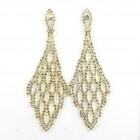 592359 Gold Rhinestone Earring