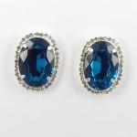 592371-113 Blue Zir. Crystal Earring in Gold