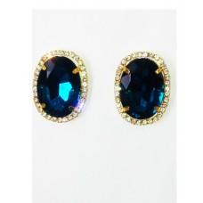 592371-213 Blue Zir. Earring in Gold