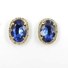 592371-215 Royal BLue Crystal Earring in Gold
