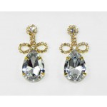 592372-201 Clear Crystal in Gold Earring