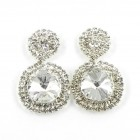 592373 Silver Rhinestone Earring