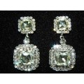 592505-101  Clear Earring in Silver