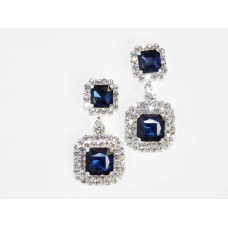 592505-117  Navy Earring in Silver