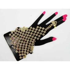 593169-201   Gold Ring Bracelet