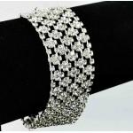 593172-101  Silver Clear Bracelet