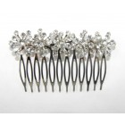 596101-101 Clear Hair Comb in Silver