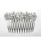 596101-101AB Clear Silver Hair Comb