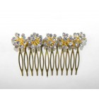 596101-201 Clear Hair Comb in Gold