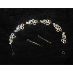 596174-101  Hair Piece in Silver AB