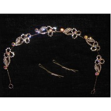 596174-209  Hair Piece In Rose Gold AB